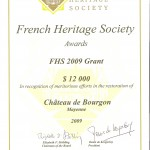 French Heritage Society awards 2009