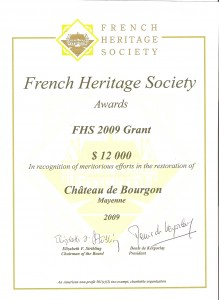 French Heritage Society awards 2009