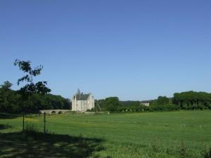 Château de Bourgon dans son écrin de verdure
