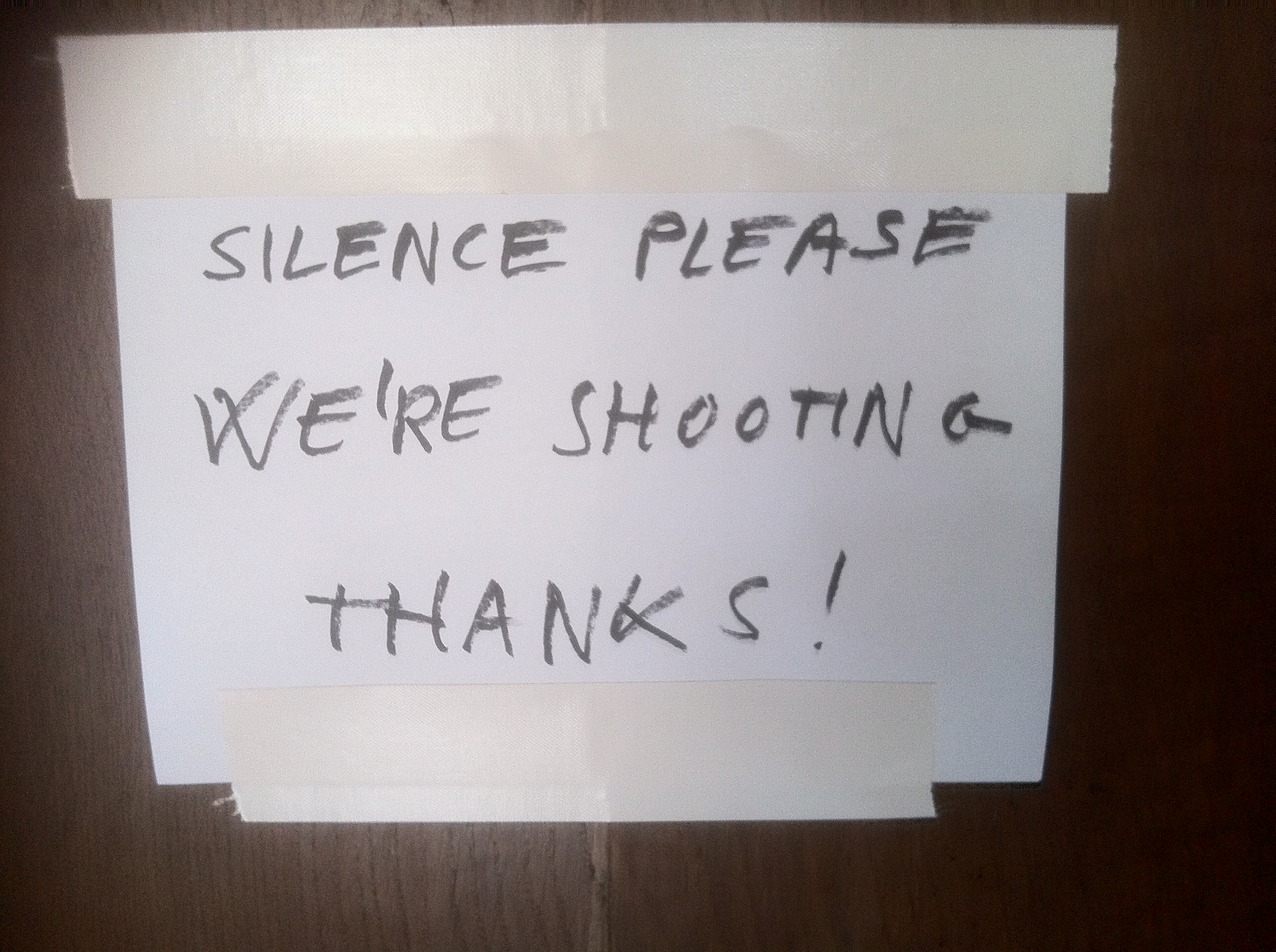 we're shooting