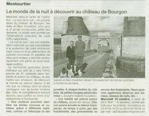 Ouest France 8/10/12 Jour de la nuit