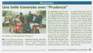 Courrier de la mayenne Prudence 2012