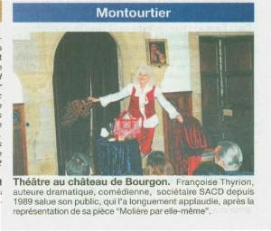 Courrier de la Mayenne F.Thyrion salue son public
